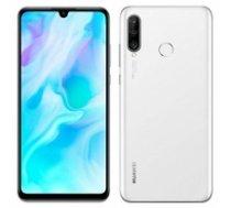 "Huawei P30 Lite White, 6.1 "", IPS LCD, 1080 x 2312 pixels, Octa-core, Internal RAM 4 GB, 128 GB, microSD, Dual SIM, Nano-SIM, 3G, 4G, Main camera Dual 24+8 MP, Secondary camera 2 MP, Android, 9.0, 3340 mAh P30 LITE PEARL WHITE"