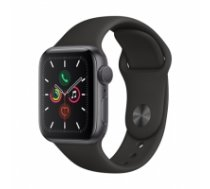 Apple Watch Series 5 GPS, 40mm Space Grey Aluminium Case with Black Sport Band MWV82EL/A