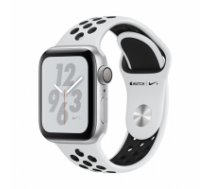 Apple Watch Nike+ Series 4 GPS, 40mm Silver Aluminium Case with Pure Platinum/Black Nike Sport Band MU6H2EL/A