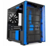 NZXT H200i Side window, Black/Blue, mini ITX, Power supply included No CA-H200W-BL