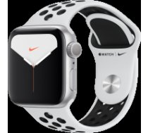 Apple Watch Nike Series 5 GPS, 40mm Silver Aluminium Case with Pure Platinum/Black Nike Sport Band Model nr A2092 MX3R2EL/A