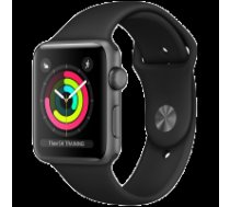 Apple Watch Series 3 GPS, 38mm Space Grey Aluminium Case with Black Sport Band, Model A1858 MTF02EL/A