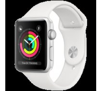Apple Watch Series 3 GPS, 38mm Silver Aluminium Case with White Sport Band, Model A1858 MTEY2EL/A