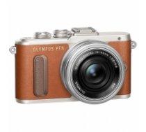 "Olympus PEN E-PL8 + 14-42mm EZ Pancake Mirrorless Camera Kit, 16.1 MP, ISO 25600, Display diagonal 7.62 "", Video recording, Wi-Fi, TTL, Magnification 14 x, Live MOS, Brown/Silver, Image sensor size (W x H) 17.3 x 13 "" V205082NE000"