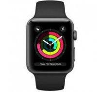 Apple Apple Watch Series 3 42mm Aluminium Case with Black Sport Band MTF32EL/A  Black |   | 190199310643