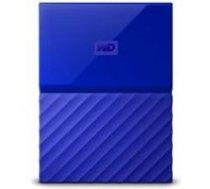 WESTERN DIGITAL External HDD WESTERN DIGITAL My Passport 3TB USB 3.0 Colour Blue WDBYFT0030BBL-WESN       718037850337