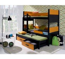 Gultas Divstāvu trīsvietīga gulta Augusto