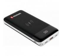 Swissten All In One Universāla Ārējas Uzlādes Baterija 3A / PD / QC 3.0 / Wireless 10W / USB / USB-C / 10000 mAh Melna | SW-PWB-AIO-10000  | 8595217461796