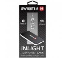 Swissten iNLIGHT Premium Recovery Power Banka Universāla Ārējas uzlādes batereja 2.1A / USB / 10000 mAh Melna   SW-PWB-INL-10000    8595217451056
