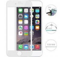 Swissten Ultra Durable 3D Japanese Tempered Glass Premium 9H Aizsargstikls Apple iPhone 6 / 6S Balts   SW-JAP-T-3D-IPH6-WH    8595217446656