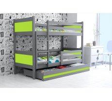 Divstāvu gulta Rino-2 Grafit 190