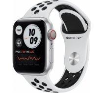 Apple Watch Nike Series 6 silver aluminium 40mm 4G pure platinum/black sport band DE