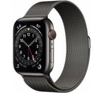 Apple Watch Series 6 graphite stainless steel 44mm 4G graphite milanese loop DE