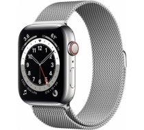 Apple Watch Series 6 silver stainless steel 44mm 4G silver milanese loop DE