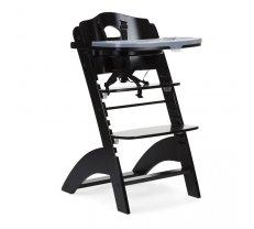 Barošanas krēsli - Barošanas krēsls CHILDHOME Lambda 2 Baby Grow Chair black + Tray Cover