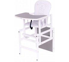 Barošanas krēsli - Barošanas krēsls - transformeris Drewex ANTOŠ - LITLLE BEAR and BUTTERFLY silver