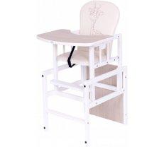Barošanas krēsli - Barošanas krēsls - transformeris Drewex ANTOŠ GIRAFFE (Žyrafka) oak santana