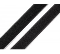 Velcro lenta melna Adhesive Hook And Loop Fastener width 20 mm black