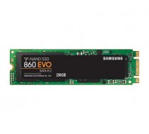 SSD | SAMSUNG | 860 Evo | 250GB | M.2 | SATA 3.0 | MLC | Write speed 520 MBytes/sec | Read speed 550 MBytes/sec | MTBF 1500000 hours | MZ-N6E250BW