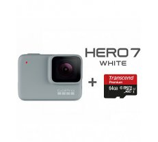 GOPRO Hero 7 White + Micro SD 64gb U1 Transcend