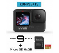 GOPRO HERO9 Black + Micro SD 64GB sporta kamera