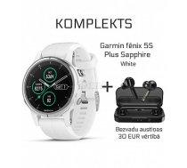 GARMIN Fēnix 5S Plus Sapphire White + Wireless Earbuds Mifa X3