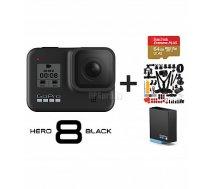 GOPRO HERO8 Black + Battery + MicroSD 64GB + 51 in 1 Combo Kit sporta kamera