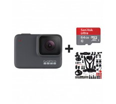 GOPRO Hero 7 Silver + Sandisk 64 SD + 45 in 1 accessories sporta kamera