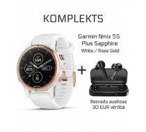 GARMIN Fēnix 5S Plus Sapphire White/RoseGold + Wireless Earbuds Mifa X3