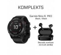 GARMIN fenix 6 PRO Black / Black + Wireless Earbuds QCY T3