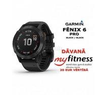 GARMIN fenix 6 PRO Black / Black + MyFitness dāvanu karte
