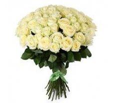 Baltas rozes 70 cm (skaits pēc izvēles)