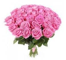 Rozā rozes 70 cm (skaits pēc izvēles)