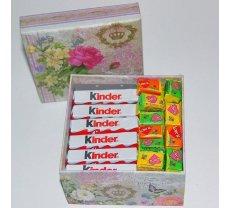 Kinder saldumi un Love Is dāvanu kastē