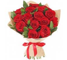 Sarkanas rozes iepakojumā (skaits pēc izvēles)