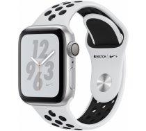 Apple Watch Series 4 44mm NIKE+ Aluminum Pure Platinum/Black Band MU6K2ZP/A