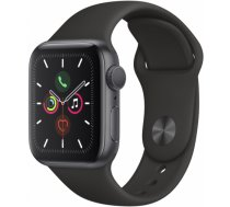 Apple Watch Series 5 40mm GPS Space Grey Aluminium Case with Black Sport Band MWV82EL/A