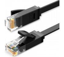 Ugreen Płaski kabel sieciowy Ethernet RJ45 Cat.6 UTP 15m czarny, UGR430BLK