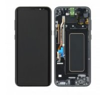 LCD displejs (ekrāns) Samsung G955F S8 Plus with touch screen black oriģināls (service pack)