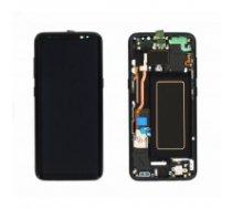 LCD displejs (ekrāns) Samsung G950F S8 with touch screen black oriģināls (service pack)