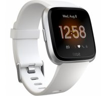 Fitbit Versa Lite Fitness Tracker FB415SRWT OLED, White/Silver Aluminum, Touchscreen, Bluetooth, Built-in pedometer, Heart rate monitor, Waterproof