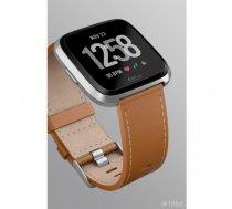 Fitbit Versa Horween S - Band - Braun - Fitbit - Fitbit Versa - Leder - Aluminium (FB166LBDB) | FB166LBDB