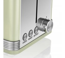 Toaster Swan RETRO ST19010GN (810 W; green color) | ST19010GN