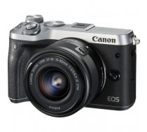 Canon EOS M6 + EF-M 15-45mm 3.5-6.3 IS STM MILC 24.2 MP CMOS 6000 x 4000 pixels Black, Silver | 1725C012
