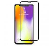 Swissten Ultra Durable 3D Japanese Tempered Glass Premium 9H Aizsargstikls Apple iPhone XR Melns | SW-JAP-T-3D-IPHXR-BK