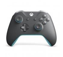 Microsoft WL3-00106 gaming controller Gamepad PC,Xbox One Analogue / Digital Bluetooth Blue,Grey   WL3-00106