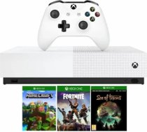 Microsoft Xbox One S 1TB All-Digital Edition white+Minecraft+Sea of Thieves+Fortnite+skn 2000V-bucks 889842529081