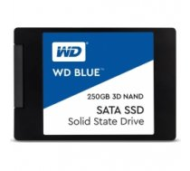 "SSD|WESTERN DIGITAL|Blue|250GB|SATA 3.0|TLC|Write speed 525 MBytes/sec|Read speed 550 MBytes/sec|2,5""|MTBF 1750000 hours|WDS250G"