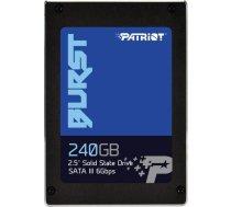 "SSD|PATRIOT|Burst|240GB|SATA 3.0|Write speed 500 MBytes/sec|Read speed 555 MBytes/sec|2,5""|PBU240GS25SSDR PBU240GS25SSDR"