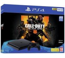 Sony Playstation 4 Slim 500GB (PS4) Black + Call of Duty: Black Ops 4